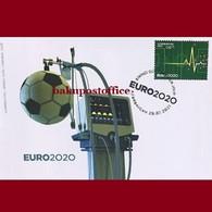 """EURO-2020"" Azerbaijan Stamps 2021 Football Soccer FDC First Day Cover - Europei Di Calcio (UEFA)"