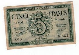 5 Francs Type 1942 - Algerien