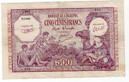 500 Francs 1944 Type Violet - Algerien