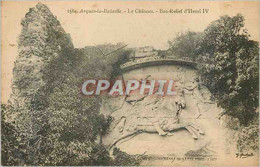 CPA Arques La Bataille Le Chateau Bas Relief D'Henri IV - Arques