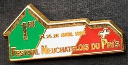 NEUCHÂTEL - SUISSE - 1er FESTIVAL NEUCHATELOIS DU PIN'S - SUISSE - SCHWEIZ - NEUENBURG - SWITZERLAND - EGF   -      (27) - Cities