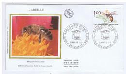 HAUTE-SAVOIE - EVIAN - Premier Jour - L'ABEILLE - 1979 - Sur Enveloppe - Documents De La Poste