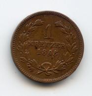 1 Kreuser, 1845. Leopold. Baden. Allemagne. /204 - Sonstige