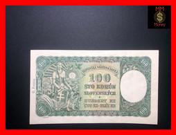 """SLOVAKIA 100 Korun  7.10.1940  P. 11   """"II Emisia""""  Issued Note    XF \ AU - Slowakije"""