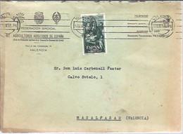 CARTA 1958  VALENCIA  CONTIENE CARTA - 1951-60 Cartas