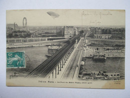 PARIS  - LE  PONT    DU  METRO   PASSY  .....  DIRIGEABLE        TTB - Transport Urbain En Surface