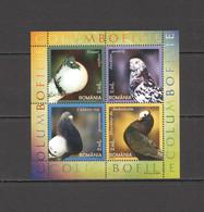 RM290 2005 ROMANIA PIGEONS BIRDS FAUNA BL366 MNH - Columbiformes