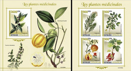 Centrafrica 2021, Medical Plants, 4val In BF +BF IMPERFORATED - Heilpflanzen