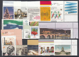 2013 Germany Collection Of 17 Different Stamps Face Value  €10.57 MNH - Unclassified