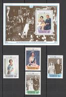 AA706 ANTIGUA & BARBUDA QUEEN ELIZABETH WEDDING #1082-85 MICHEL SET+BL MNH - Königshäuser, Adel