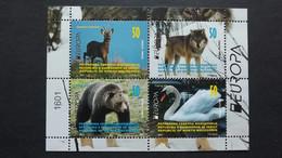 Mazedonien Aus MH/booklet ++, EUROPA/CEPT 2021, Bedrohte Tiere - Macedonia