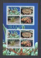 AA712 2010 BEQUIA WWF MARINE LIFE CRABS SHRIMP #647-0 MICHEL 15 EURO 1KB MNH - Nuevos