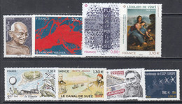 2019 France Collection Of 8 Different Stamps Face Value  €11.16 MNH - Unused Stamps