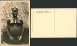 Carte Photo (Congo Belge, C. Zagourski) : L'afrique Qui Disparait N°112 A.E.F. Population De La Brousse, Seins Nus - Congo Belga - Otros