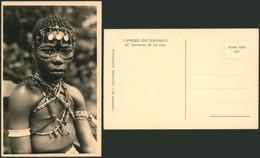 Carte Photo (Congo Belge, C. Zagourski) : L'afrique Qui Disparait N°40 Danseuse De Yakoma - Congo Belga - Otros