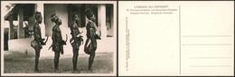 Carte Photo (Congo Belge, C. Zagourski 2e Série) : L'afrique Qui Disparait N°76 Les Bongélima, Notables - Congo Belga - Otros