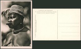 Carte Photo (Congo Belge, C. Zagourski 2e Série) : L'afrique Qui Disparait N°73 Les Bakumus à Madula, Homme à Plateau - Congo Belga - Otros