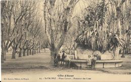 CPA ST TROPEZ Place Carnot Fontaine Des Lices - Saint-Tropez