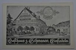 """Carte Publicitaire Einsiedeln - Hôtel & Pension """"Schwanen"""" - Propriétaire W. Spaeni-Gyr - SZ Schwyz"""