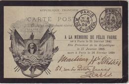 "FRANCE : ENTIER POSTAL . 10 Cts . TYPE SAGE . CPC . "" HUOT . PORTRAIT . ARMOIRIE DU PRESIDENT "" . 1899 . OBL . - Cartoline Postali E Su Commissione Privata TSC (ante 1995)"