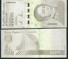 VENEZUELA NLP 200.000 Or 200 MIL BOLIVARES 3.9.2020 Issued 8.3.2021 #A             UNC. - Venezuela