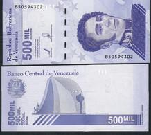 VENEZUELA NLP 500.000 Or 500 MIL BOLIVARES 3.9.2020 Issued 8.3.2021 #B            UNC. - Venezuela