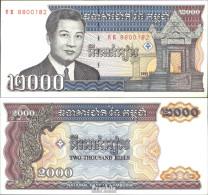 Kambodscha Pick-Nr: 40 Bankfrisch 1992 2.000 Riels - Cambodia