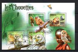 W2-18 Centrafricaine  Bloc Oblitéré Thématique Chouettes  A Saisir  !!! - Centraal-Afrikaanse Republiek