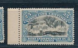"BELGIAN CONGO 1894/1900 ISSUE ""MOLS""  25C BLUE COB 22 MNH - 1894-1923 Mols: Neufs"