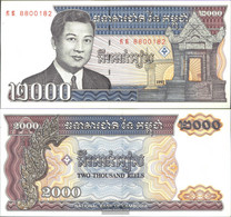Cambodia Pick-number: 40 Uncirculated 1992 2.000 Riels - Cambodia