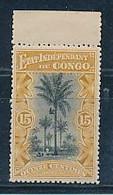 """BELGIAN CONGO 1894/1900 ISSUE """"MOLS""""  15C OCRE COB 20 MNH - 1894-1923 Mols: Neufs"""
