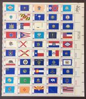 Etats Unis - USA - Bloc N** MNH Drapeaux Flags De 1776 Bicentennial Era , Pliée Horizontalement , Folded Horizontally - Blocchi & Foglietti