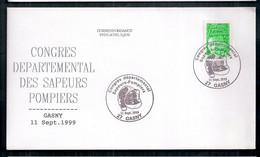 Enveloppe France 1999 Avec Cachet De La Poste Spécial Pompiers - Sapeurs-Pompiers