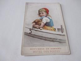 Chromo, 10 Cm X 15, Souvenir De Dinant, Hotel Des Postes - Otros