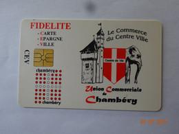 CARTE A PUCE CHIP CARD CARTE FIDÉLITÉ CEV CHAMBÉRY 73 SAVOIE - Gift And Loyalty Cards