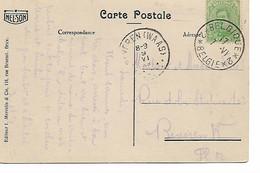 REF4675/ TP 137 S/CP Arlon  C.Passe-Partout Belgique-Belgie N°2 1919 > Beveren Waas C.d'arrivée - Fortuna (1919)