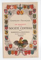 - CPA MILITAIRES - EMPRUNT FRANCAIS - ON SOUSCRIT A LA SOCIÉTÉ CENTRALE DES BANQUES DE PROVINCE, PARIS - - Patriotiques