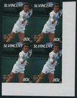 Neuf Sans Charnière N° 989. 80c Ivan Lendl, Bloc De 4ex Non Dentelés, Cdf, T.B. - Unclassified