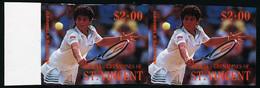 Neuf Sans Charnière Béquia Tennis, 2$ Gabriela Sabbatini, Paire Hor. ND, Bdf, T.B. Michel N° 268. - Unclassified