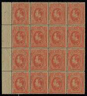Neuf Sans Charnière N° 4, 1s Orange Bloc De 16ex, Bdf, Fraicheur Postale, Superbe - Unclassified