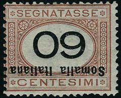 Neuf Avec Charnière N°35/37. 40c, 50c Et 60c Surcharge Renversée. T.B. Signé. (Sassone 45a/47a : 1050 Euros) - Unclassified