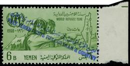 Neuf Sans Charnière N° 87b/88b, 2 Val. Free Yemen Surcharge Violette, TB - Unclassified