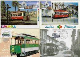 Portugal 1995 / 2007 4 Maximum Card Transport Tram Tramway - Tranvie