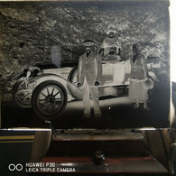 Ancien Négatif Photographie Plaque De Verre Automobile - Diapositiva Su Vetro