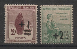 France - 1922 - N°Yv. 162 Et 163 - Orphelins - Neuf Luxe ** / MNH / Postfrisch - Nuovi