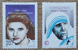 Macédoine - YT N°91, 92 - Europa / Femmes Célèbres - 1996 - Neuf - Macedonia
