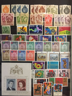 LIECHTENSTEIN   : SELECTION OF Stamps    On 1 PAGE  MNH  ( LOT 1 )  Except Row 1-2 Mixed MH - Lotes/Colecciones