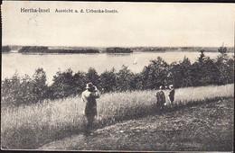 Germany  Hertha Insel Near ALLENSTEIN Now Olsztyn Poland Postcard Aussicht A. D. Urbanka Inseln Used In 1914 To Leisnig - Polonia