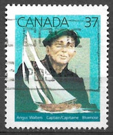 Canada 1988. Scott #1228 (U) The Bluenose & Capt. Angus Waters (1882-1968), Mariner *Complete Issue* - Used Stamps