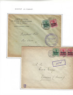 2 Lettres Oblit . Mons - Anvers. Gepruft  1916 - Andere Brieven